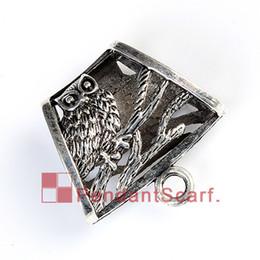 12PCS LOT Hot Fashion DIY Jewellery Pendant Scarf Accessories Mental Alloy Elagant Owl Design Charm Slide Bails Tube, Free Shipping, AC0243A