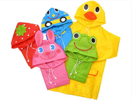 Wholesale Baby Raincoat Cute Funny Cartoon Animal Waterproof Kids Rain Gear BB136