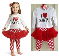 Girl authentic pants - new Foreign trade children authentic Christmas babys girls Children s T shirts tutu skirts pants sets outfits amp sets TT
