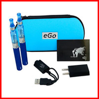 Electronic Cigarette Set Series white eGo-CE5 with eGo zipper case,650mAh 900mAh 1100mAh double e-cigarettes zipper case packed with ego charger EGO-T battery CE5 atomizer