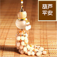 Wholesale Starry channeling beads crystal perfume bottle gourd pendant car pendant car pendant car hanging