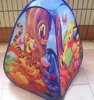 Tents Animes & Cartoons Polyester wholesale retail Kids Play Tent chindren house castle bear