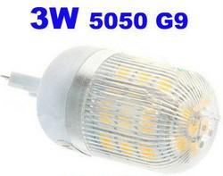 3W G9 LED Corn Bulbs 27 leds 5050 Lights with Cover WW   CW Lighting Indoor Use Lamps 3 Watts 2 Years Warranty CE ROSH 50pcs lot-Via Express