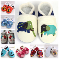 Wholesale Hot Sale Brand New Baby Soft Sole Leather Walking Fur Boots Infant Winter Walking Shoes T pc Pairs U Choose Color amp Size freely