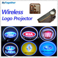 Blue 2013 Wireless and wired 3 glasses car door courtesy welcome Ghost Shadow light Logo projector led lamp for Ford Focus VW jetta Passat Polo corolla kia k5 Rio March