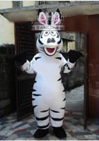 Wholesale new Easter Halloween plush Cartoon Character adult size Costume mascot the movie Madagascar Zebra Horse Marty costumes Animal Apparel