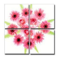 Oil Painting Unframed Yes The modern pure hand-painted oil frameless painting beautiful abstract daisy rose