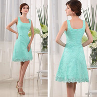 A-Line Sexy Lace Mint Sexy Spaghetti Sleeveless A line Knee Length Lace Cheap 2013 Party Dresses For Womens Homecoming Cocktail Dresses #3562