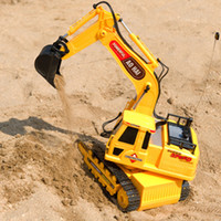Wholesale Kid s toys wireless remote control excavator with a belt electric toy engineering car