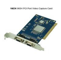 Compra Pci cctv dvr-Seguridad CCTV 16CH 960H Resolución puerto PCI Video Record Captura DVR Tarjeta