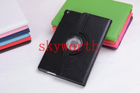 Wholesale 360 Rotary Leather Case Cover for ipad air Inch Tablet PC Case stand With Magnet