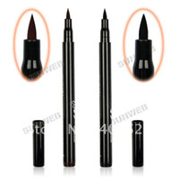 Waterproof Pencil Eyeliner 10pcs Lot New Rotary Waterproof Liquid Eyeliner Pencil Eye Liner Pen Makeup Wholesale Brown Black free shipping 7798