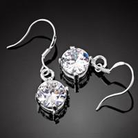 Wholesale Zircon Stud Womens Earrings Luxury Crystal Pendant Earrings Bling Bling Fashion Jewelry Ladies Chandelier Earring HY008