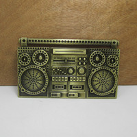 antique music player - BuckleHome music player belt buckle with antique brass finish FP with continous stock