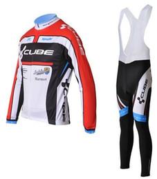Descuento baberos ciclismo cubo cubo de ciclo 2012 Cubo de ciclo de ciclo Jersey de manga larga del babero de ciclo pantalones kits de 2012 nuevas camisetas del cubo de ciclismo y pantalones del babero del envío libre