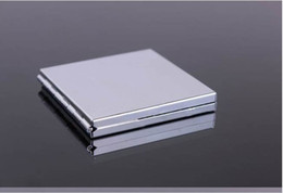 Wholesale Blank Compact Mirror Square Makeup Mirror Silver Color