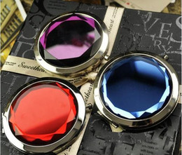 Wholesale 10PCS Cosmetic Compact Mirror Crystal Magnifying Make Up Mirror DROP SHIPPING