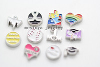 Charms autism charms - 120pcs bible graduation baseball ghost cheer peace comes from within sister rainbow heart Autism mom hockey floating charms no locket