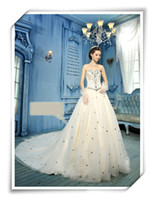 Sweetheart A Line Beaded Stone Cathedral Train Wedding Dress...