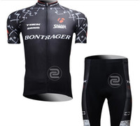 Wholesale new men s hot Black team cycling jersey ciclismo wear short sleeve shorts cycling clothing