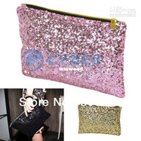 Wholesale Holiday Sale Fashion Women s Sparkle Spangle Clutch Evening Bag Wallet Purse Handbag Pink Black Gold
