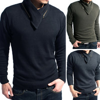 Wholesale Men Casual Sweater Male Cotton Sweater Tops Long Sleeved Sweater V Neck Slim Knitted Shirts Spring Men Tops New