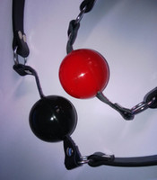 ball gags - Black Red Soft ball mouth gag Ball Gag Bondage gag ball sex toy adult toys MG002