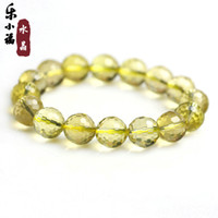 Natural crystal / semi-precious stones Citrine 5A-class male and female models female m Fun Little Fortunes opening Faceted Natural Brazilian Citrine Bracelet 128 male and female birthday gift jewelry Lucky