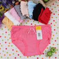 Lace c-string - whole sale Fashion waist Seamless lace panties Ms underpants underwear briefs set sent by random drop shipping