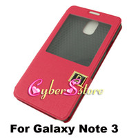 Wholesale Note3 S View Flip Wallet Leather Case Cover With Stand For Samsung Galaxy Note N9000 III Cheapest Price