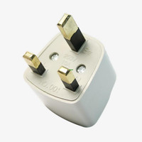 Wholesale 3 pin UK Travel Plug Power Adapter Converter White