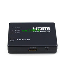 Wholesale 3 Port Way HDMI Switch Switcher Splitter HDTV with Remote