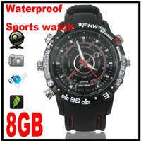 Wholesale Spy Watch camera Video Recorder GB Hidden Camera DVR Waterproof Camcorder