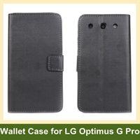 al por mayor optimus pro g casos-Mayorista Fresco Cartera Flip Case para LG F240K(Optimus G Pro) E988 funda de Cuero para LG F240K(Optimus G Pro) Envío Gratuito