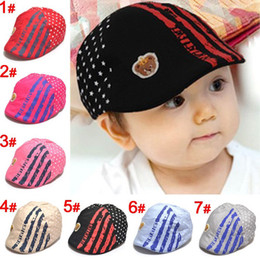 Wholesale Baby Five pointed Star Beret Hat Peaked Cap Hats Baby Photography Prop Hat Cap Baseball Hat Cap Aby Peaked Cap Short Brim Sun Hat