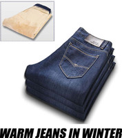 Wholesale men winter jeans trousers New Arrival Newly Style thick jeans for winter warm Cotton Jeans for men jeans