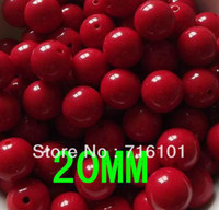 Wholesale Acrylic beads MM Chunky beads loose beads for DIY fashion Children s Jewelry Accessories Candy Color Beads grams