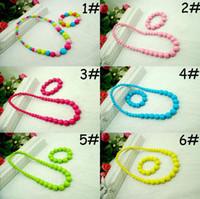 Wholesale Lovely Children Jewelry Sets Candy Color Children Necklace Bracelets Baby Girl Necklace Bracelet Jewelry Photography Props TZ01