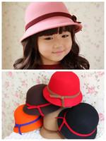 Wholesale for winter girl kids childrens girls woolen hats caps
