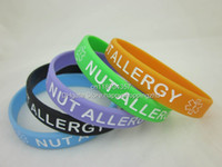 Unisex medical id - NUT ALLERGY Medical ID Alert Bracelet Silicon Wristband colour