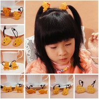 Wholesale Cartoon Zoo Animal Crackers Biscuit Hair Rubber Bands Hair Rope Hair Ring Hair Bands Baccessories Children Baby Princess Jewelry