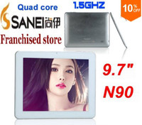 Wholesale DHL original Cheap Inch Sanei N90 A31S Quad Core Tablet PC Android IPS Capacitive Dual Camera G G PS