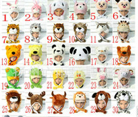 Wholesale Cartoon plush hat animal hat tiger hat cartoon fluffy hat multiple designs wolf hat frog hat winter hat colors Can choose
