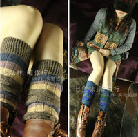 Winter knitted Leg Warmers for Women Fashion Gaiters Boot Cuffs Socks