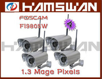 Wholesale 4pcs Foscam Wireless WiFi IP Camera HD x960 M pixel H audio FI9805W for HK post air mail