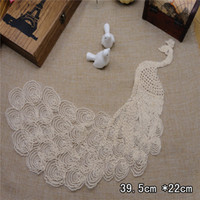 Wholesale bulk Beige peacock lace patch DIY Sewing Knitting cm