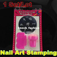 UV Gel Nail Art Set Yes Template [NZ011R]Stamping Nail Art Kit Assorted Plates Stamp Scrapers DIY Image Plate Mix Template Stainless Steel + Free Shipping