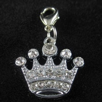 Wholesale Crown Pet ID Tag DIY Hang Charms Pendant Zinc Alloy Brand New pet products dog tag dog