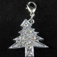 Wholesale Christmas Tree Pet ID Tag DIY Hang Charms Pendant Zinc Alloy Brand New pet products dog tag dog
