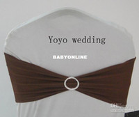 Wholesale Chocolate Spandex bands with rhinestone spandex bands with diamond buckle